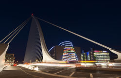 The Samuel Beckett bridge Stock Photography