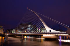 Samuel Beckett bridge Stock Photo