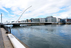 Samuel Beckett Bridge. The Samuel Beckett Bridge links the north-side and south-side of Dublin city, over the River ''Liffey Royalty Free Stock Photo
