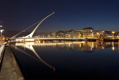The Samuel Beckett bridge Stock Photos