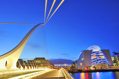 THE SAMUEL BECKETT BRIDGE Royalty Free Stock Image