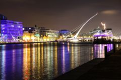 Samuel Beckett bridge Stock Images