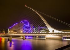 Samuel Beckett Bridge & Convention Center Dublin Royalty Free Stock Image
