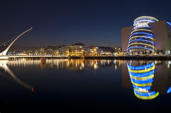 The Samuel Beckett bridge and Convention Centre stock photo
