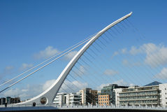 Samuel Beckett Bridge in Dublin Stock Foto