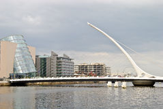 Samuel Beckett Bridge, Dublin Stock Afbeelding
