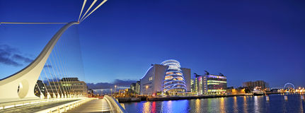 THE SAMUEL BECKETT BRIDGE Royalty Free Stock Photography