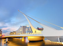 THE SAMUEL BECKETT BRIDGE Royalty Free Stock Photos