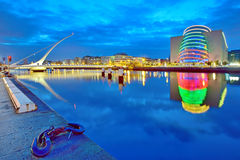 Samuel Beckett Bridge in Dublin Lizenzfreie Stockfotos