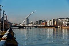 Samuel Beckett Bridge in Dublin City Centre Lizenzfreie Stockfotografie