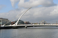 Samuel Beckett Bridge. The Samuel Beckett Bridge in Dublin Docklands area (Ireland Royalty Free Stock Photos