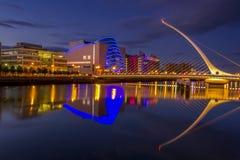 Samuel Beckett Bridge in Dublin stock photo