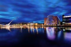 Samuel Beckett Bridge Dublin, Ierland stock foto