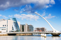 Samuel Beckett Bridge in Dublin, Ireland. Samuel Beckett Bridge in Dublin Stock Photo
