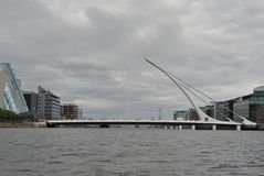 Samuel Beckett Bridge. The Samuel Beckett Bridge in Dublin, Ireland stock photos