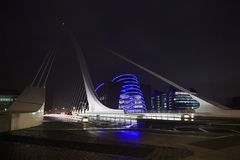 Samuel Beckett Bridge in Dublin. Dublin, Ireland - August 28, 2014: Samuel Beckett Bridge in Dublin Royalty Free Stock Photo