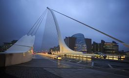 Samuel Beckett Bridge in Dublin. Dublin, Ireland - August 28, 2014: Samuel Beckett Bridge in Dublin Stock Image