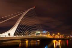 The Samuel Beckett Bridge. Dublin, Ireland - 8 Jan 2017:    The Samuel Beckett Bridge on the River Liffey in Dublin, Ireland. Docklands Royalty Free Stock Photos