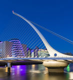 The Samuel Beckett Bridge in Dublin Stock Photo