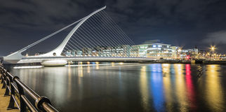 Samuel Beckett Bridge, Dublin, Irlanda Fotos de Stock Royalty Free