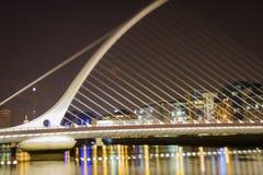 Samuel Beckett Bridge in Dublin stock photography
