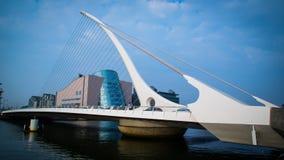 Samuel Beckett Bridge, Dublin. One of Dublins best known landmarks Royalty Free Stock Photos