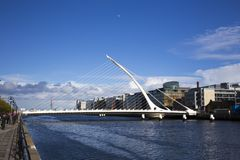 Samuel Beckett Bridge, Dublin Stock Images