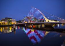 Samuel Beckett Bridge i Dublin royaltyfri foto