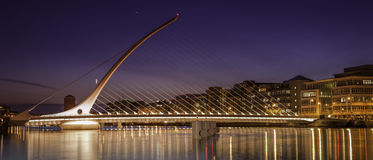 Samuel Beckett Bridge inn Dublin at dawn Royalty Free Stock Images