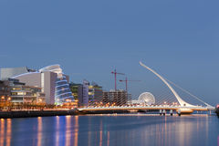 Samuel Beckett Bridge Royalty Free Stock Photos