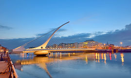 The Samuel Beckett Bridge Royalty Free Stock Photo