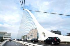 Samuel Beckett Bridge in 08 September 2014, Dublin Stock Foto