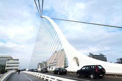 Samuel Beckett Bridge in 08. September 2014, Dublin Stock Photo