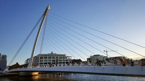 Samuel Beckett's Bridge - the harp Royalty Free Stock Images