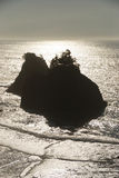Samuel Boardman. Offshore haystack rocks in the Samuel H. Boardman State Scenic Corridor between Brookings-Harbor and Gold Beach stock photo