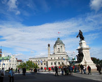 Samuel de Champlain Old Quebec Fotografie Stock Libere da Diritti