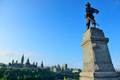 Samuel de Champlain statue in Ottawa Royalty Free Stock Photo