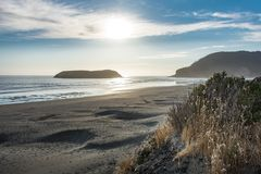Samuel H Boardman State Beach in Oregon during a golden hour sunset royalty free stock image
