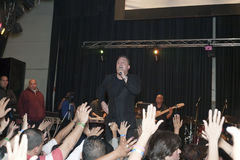 Samuel Hernandez performing during a Christian concert in the Br Stock Photography