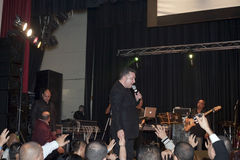 Samuel Hernandez performing during a Christian concert in the Br Royalty Free Stock Image