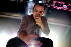 Samuel Herring, frontman of Future Islands (synthpop electronic dance band), performs at Razzmatazz stage Stock Images