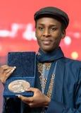 Samuel Ishimwe, vencedor do prêmio de prata do júri do urso em Berlinale 2018 foto de stock royalty free