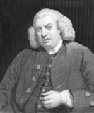Samuel Johnson fotografie stock