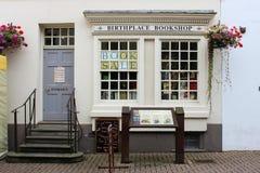 Samuel Johnson födelseortbokhandel Lichfield Royaltyfria Foton