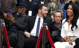 Samuel L Jackson, Jimmy Kimmel, Brian Grazer et Lisa Parigi photographie stock libre de droits