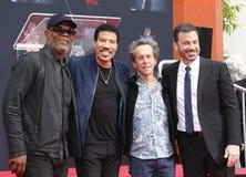 Samuel L Jackson, Lionel Richie, Jimmy Kimmel et Brian Grazer image stock