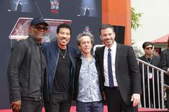 Samuel L Jackson, Lionel Richie, Jimmy Kimmel et Brian Grazer photos libres de droits