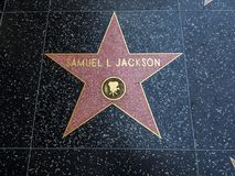 Samuel L Jackson-` s Stern, Hollywood-Weg des Ruhmes - 11. August 2017 - Hollywood Boulevard, Los Angeles, Kalifornien, CA Lizenzfreie Stockfotografie