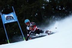 Samuel Moling in Audi Fis Alpine Skiing World-de Reus van Kopmen's royalty-vrije stock afbeeldingen