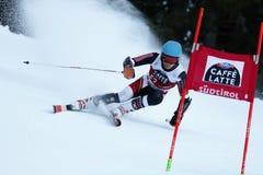 Samuel Moling in Audi Fis Alpine Skiing World-de Reus van Kopmen's stock afbeelding